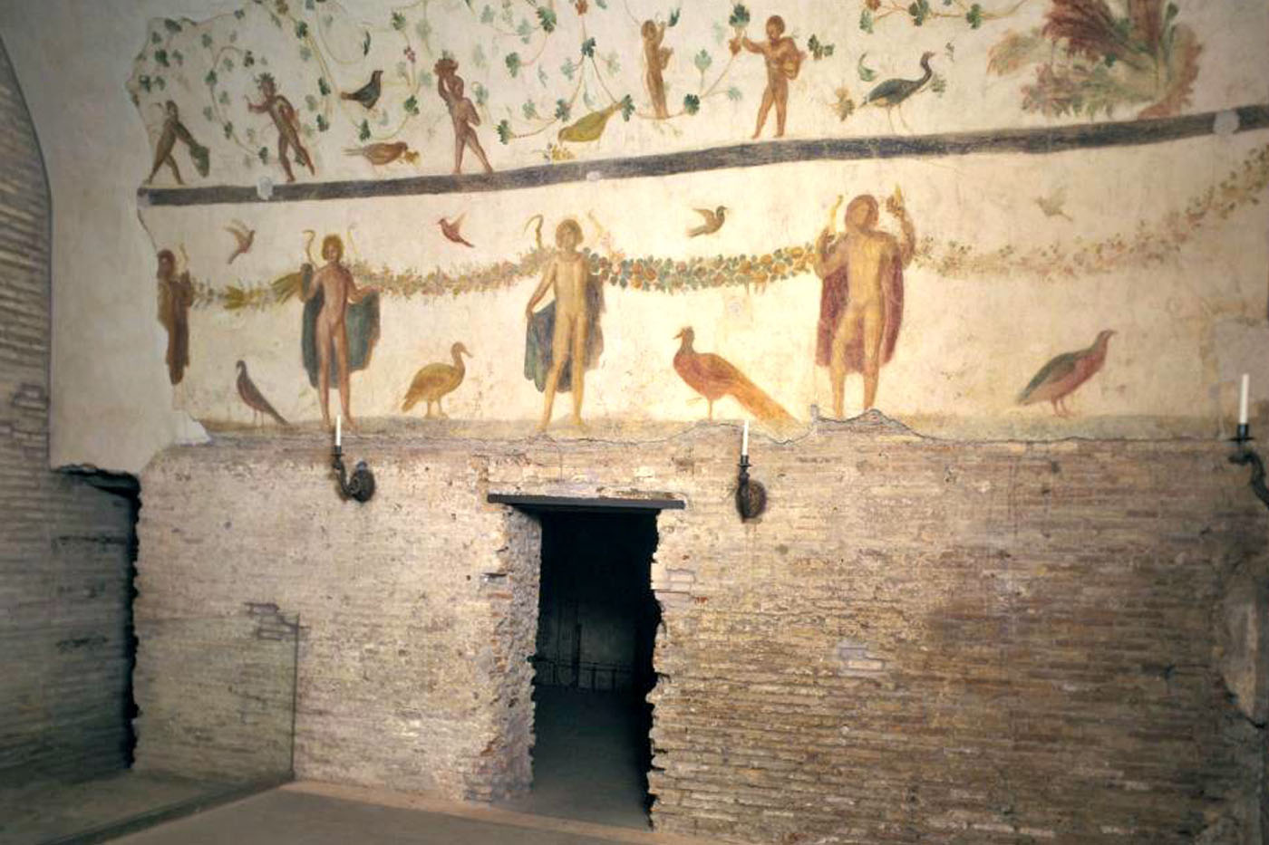 Paintings in the ancient Roman houses of the Caelian depicting guardian spirits